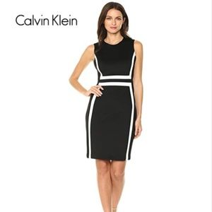 Calvin Klein Sleeveless Black Midi Dress NWT NEW
